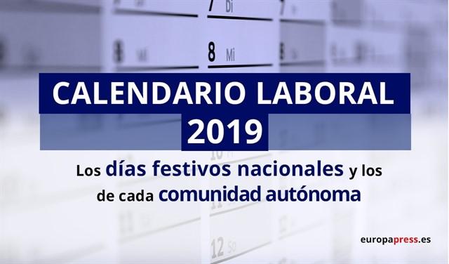 Boe Calendario.Calendario Laboral 2019 Actualidad Educativa