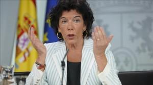 Madrid   07 09 18    Isabel Celaa  portavoz del Gobierno  y Carmen Monton  ministra de Sanidad  durante la rueda de prensa posterior al Consejo de Ministros celebrado hoy  FOTO  JOSE LUIS ROCA